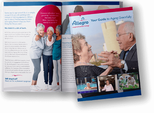 Guide to Aging Gracefully brochure cover